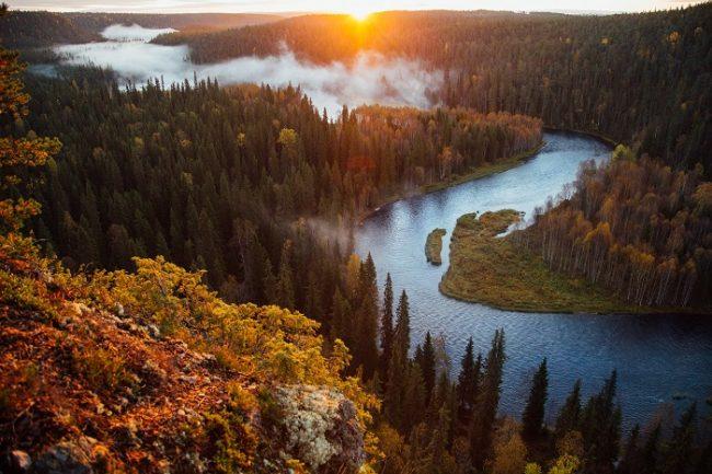 El parque nacional de Oulanka en otoño