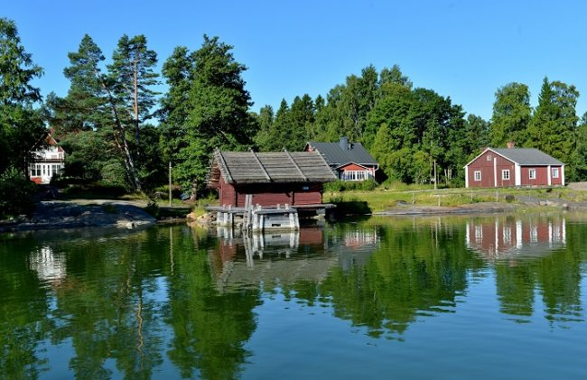 En la isla de Pentala en el archipiélago de Espoo