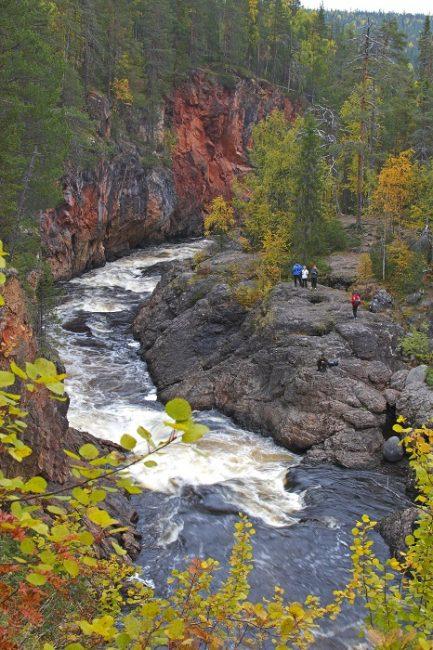 Kiutaköngäs en el Parque Nacional de Oulanka