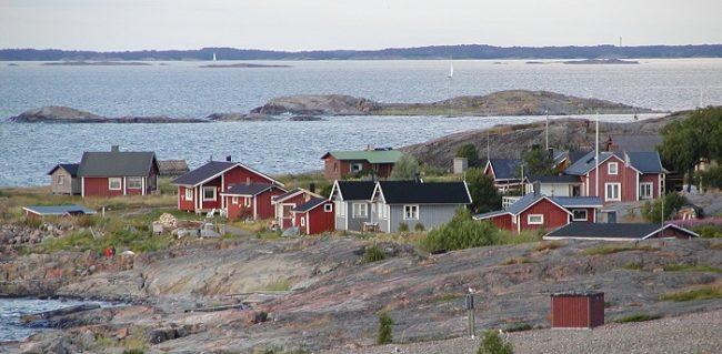 Pueblo de pescadores en la isla de Jurmo