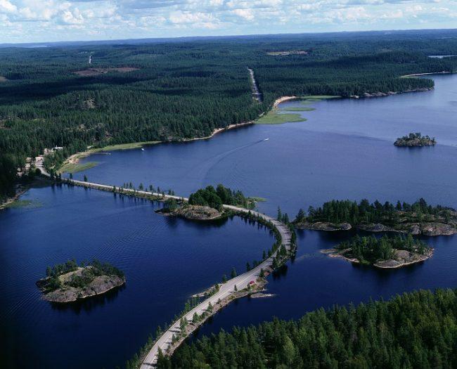 Cerca de Puumala en la zona del lago Saimaa