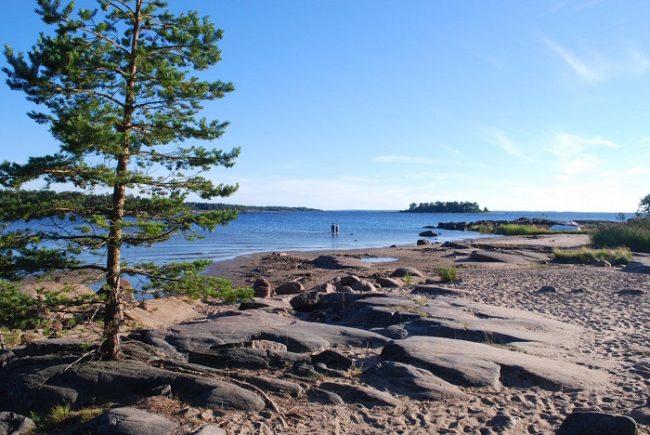 Detalle de la costa de Pietarsaari