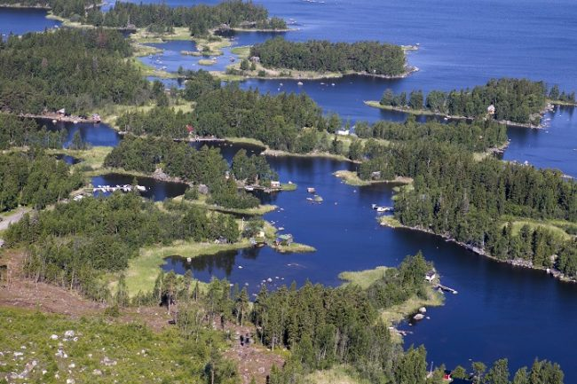 Detalle del archipiélago de Kvarken, patrimonio de la UNESCO