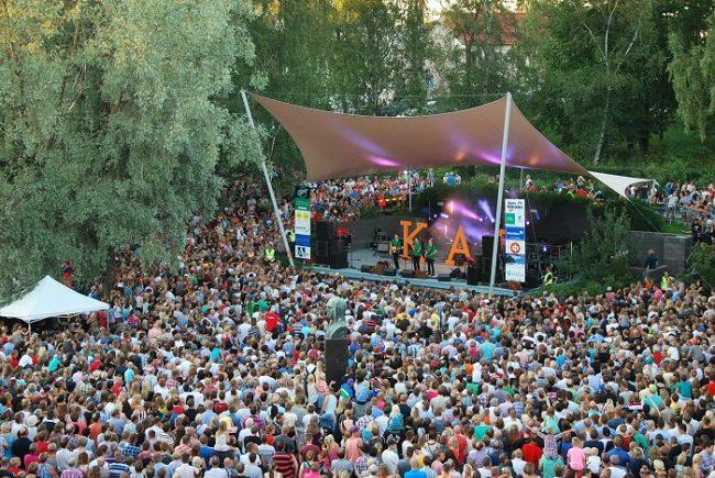 Durante uno de los conciertos durante el Jakobs Dagar en Pietarsaari