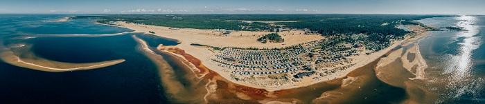 Panoramica de la playa de Kalajoki. La ciudad esta situada en el margen izquierdo