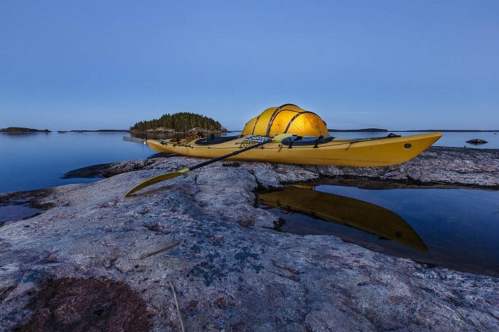 Navegar con kayak y con canoa en Finlandia