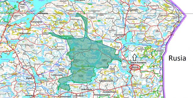 Mapa con la ubicación del Parque Nacional de Hossa