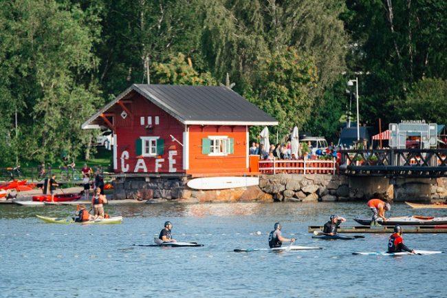 Uno de los centros de kayak que se pueden encontrar en Helsinki