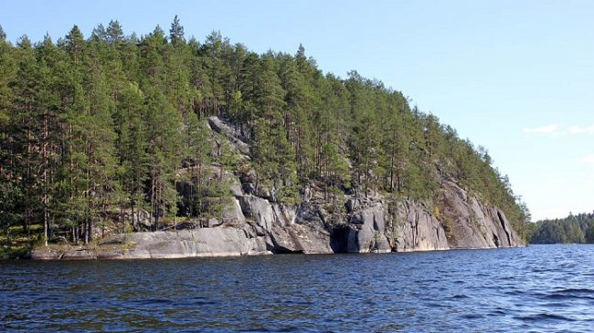 Zona rocosa en el Parque Nacional de Kolovesi