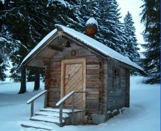 Capilla de San Nicolás en invierno
