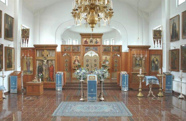 Detalle interior del Monasterio Nuevo de Valamo