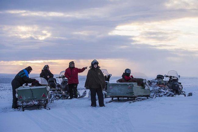 Excursión con moto de nieve por los paramos de Utsjoki