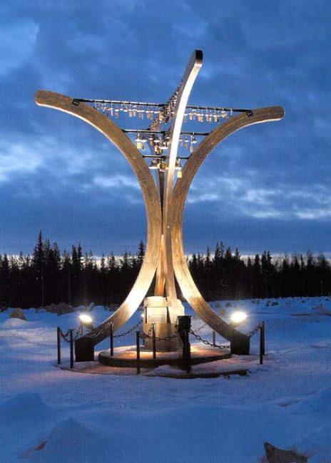 Monumento de la Guerra de Invierno en Suomussalmi