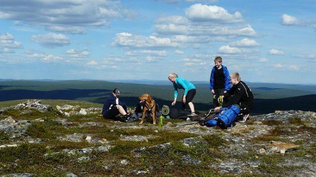 En la cima de Kilopää en el Parque Nacional Urho Kekkonen