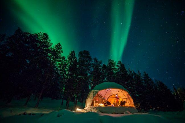 La Aurora Boreal cubriendo el cielo de Torassieppi