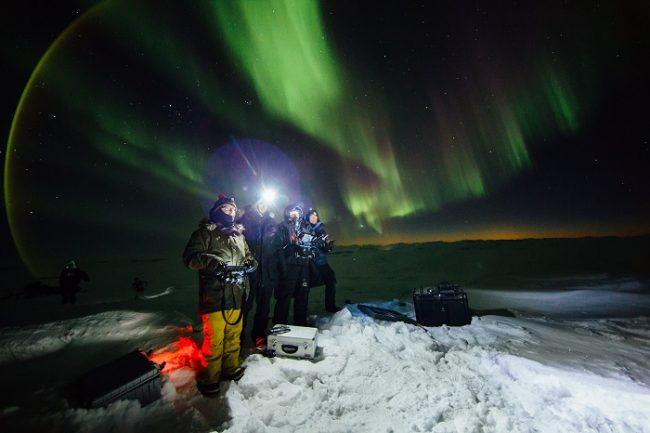 La Aurora Boreal durante un safari fotográfico