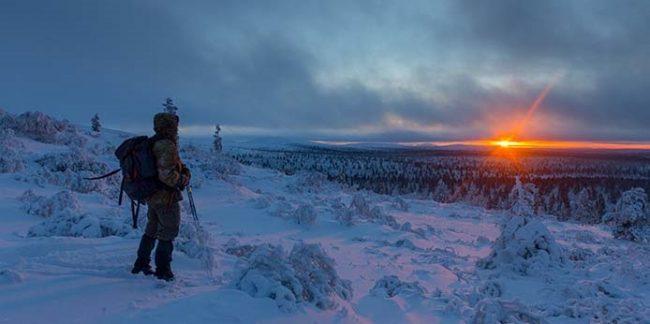 Momento mágico durante una travesía en el Parque Nacional Urho Kekkonen