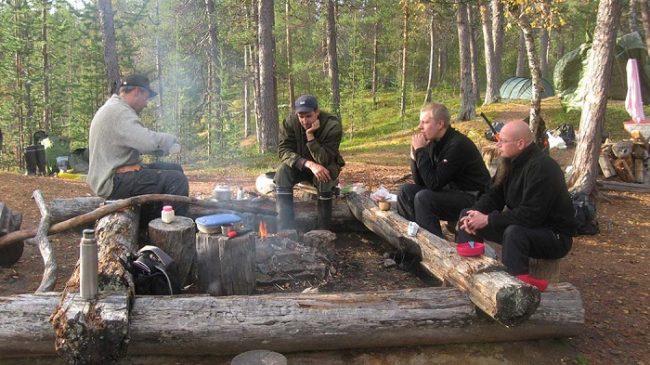 Zona de camping en el Parque Nacional Urho Kekkonen