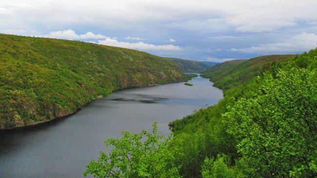 El río Kevo es la arteria principal de la Reserva Natural de Kevo