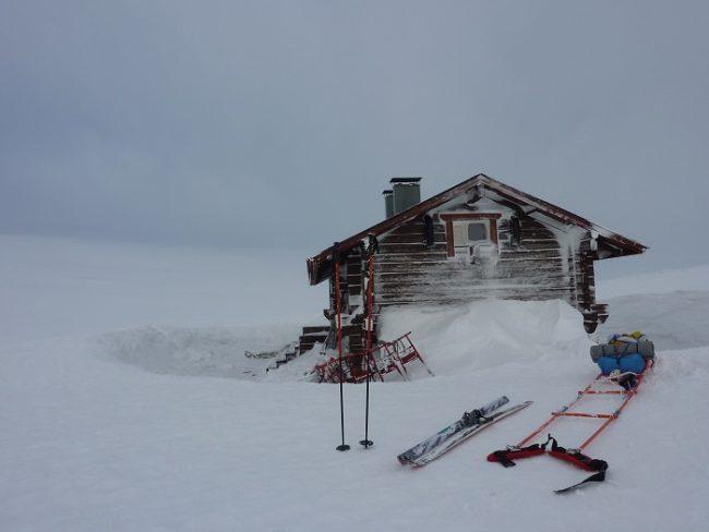Refugio Halti a pocos kilometros de la cima