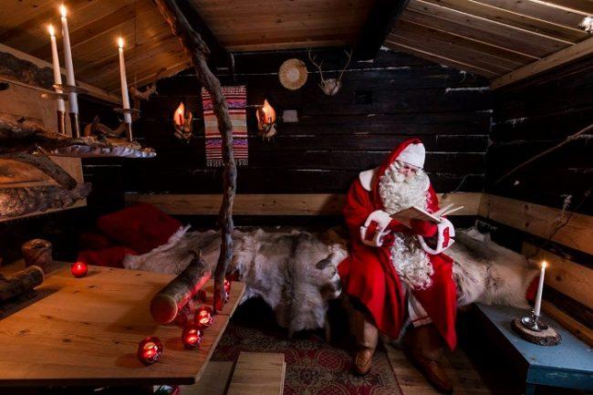 Interior de la cabaña secreta que Papá Noel tiene en Ranua