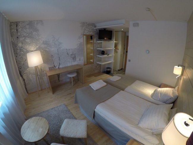 Detalle de la habitación familiar del hotel Ivalo