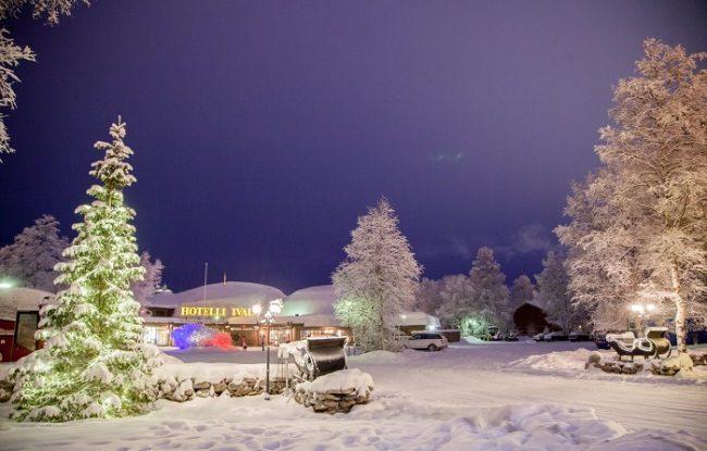 El hotel Ivalo en invierno