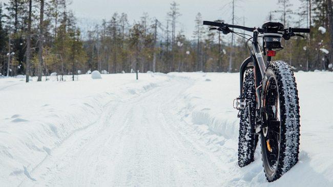 Durante el invierno también se puede practicar la FatBike en el Parque Nacional de Syöte