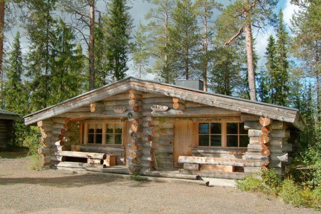 Cabañas del hotel Äkäshotelli en Äkäslompolo