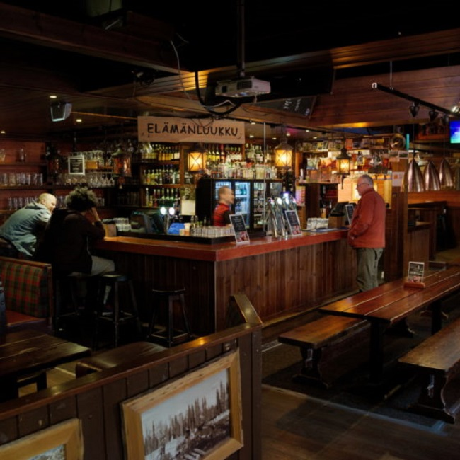 El interior del pub Uitto
