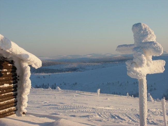 Vista desde lo alto de una de las colinas que rodean Saariselkä