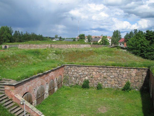 Detalle de la fortaleza de Hamina