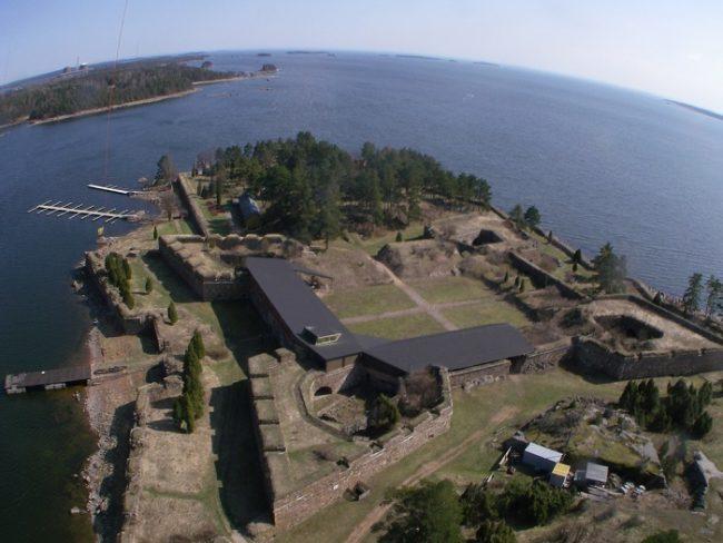 Fortaleza de Svartholm desde el aire