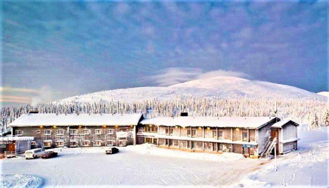 El Hotel Pallas en invierno
