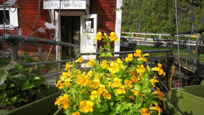 El café de Leena Koskitupa en la orilla del río Kitka en el pueblo de Käylä