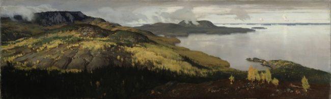 El famoso cuadro del artista finlandés Eero Järnefelt: Paisaje de Otoño en el lago Pielinen