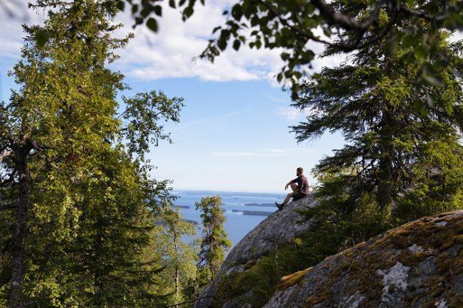 Espectacular vista desde la colina Mäkrävaara en el Parque Nacional de Koli