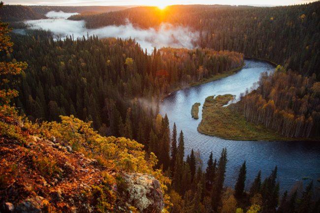 Parque Nacional de Oulanka en verano
