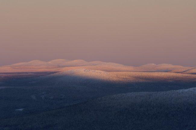 Vista de la zona de Pallas desde Ylläs