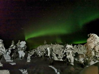 Aurora Boreal en Iso Syote (Fuente: Carlos gomez)
