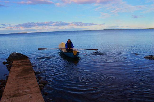 El lago Oulujärvi bien parece un mar