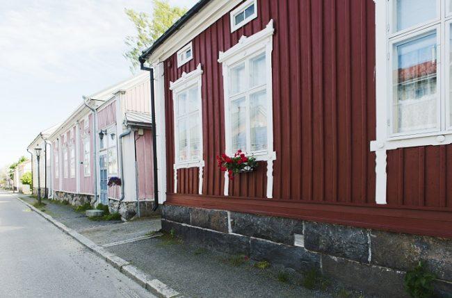 Detalle del barrio de Neristan en Kokkola