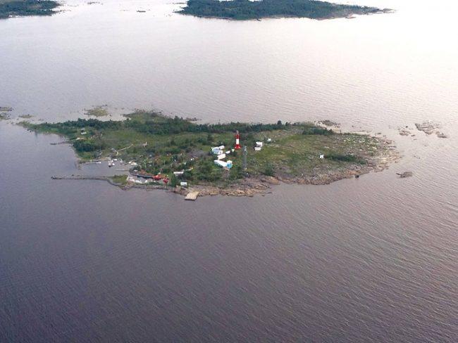 Vista aérea de la isla de Tankar