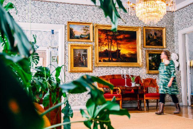 Detalle de una de las habitaciones de la casa-museo de Runeberg