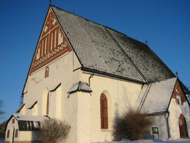 La catedral de la ciudad de Porvoo