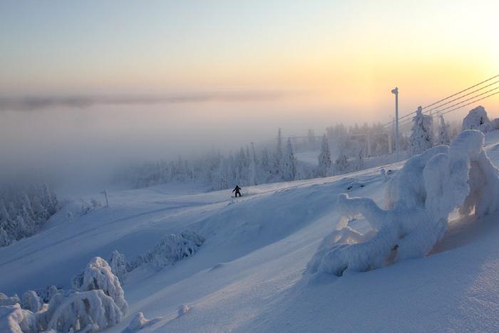 El complejo turístico de Ruka en Finlandia