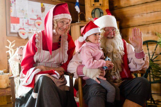 Papá Noel y mamá Noel nos esperan en Ruka