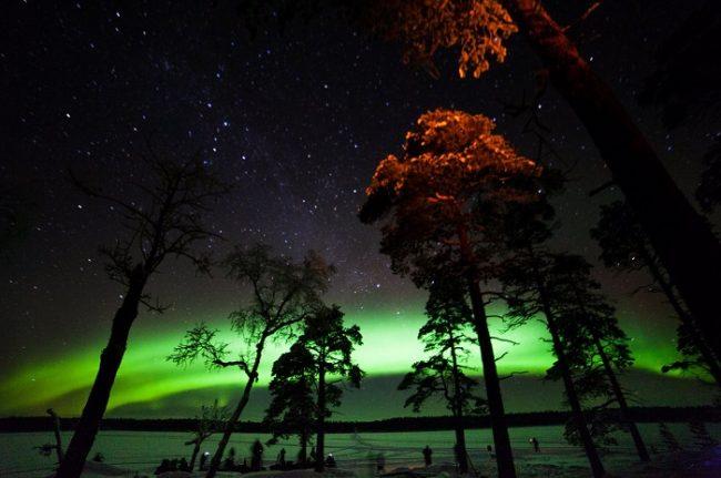 Bonita Aurora Boreal en Nellim