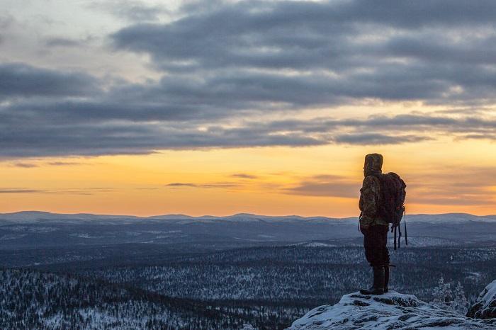El pueblo de Ivalo en Laponia