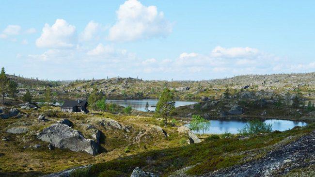 Cabaña (Autiotupa) de Rajapää en el Área Natural de Vätsäri